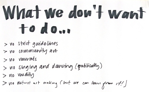 What we don't want to do.