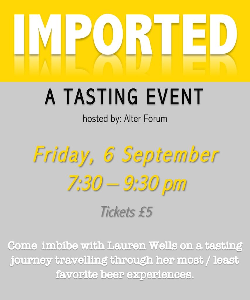 Beer Tasting performance @ the Portal, Lauren Wells
